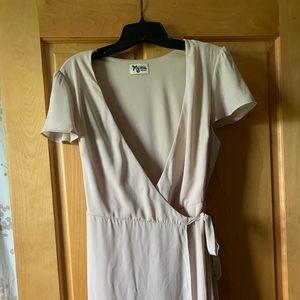 Noelle Wrap Dress ~ Show Me the Ring Crisp-Medium